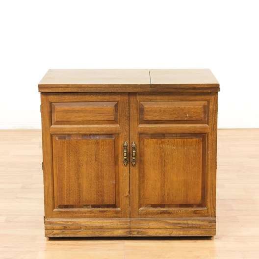 Singer Wood Sewing Cabinet W Sewing Machine Loveseat