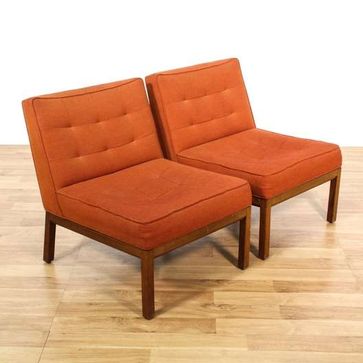 orange upholstered chair sure fit dining covers target mid century modern burnt chairs loveseat next
