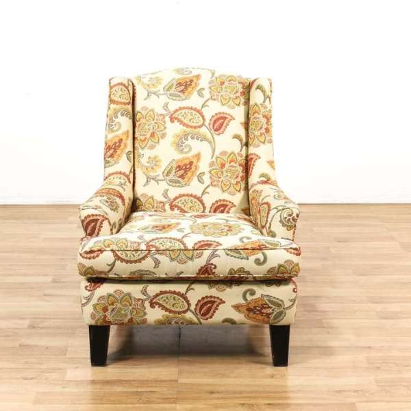 Oversized Cottage Chic Floral Armchair Loveseat Vintage