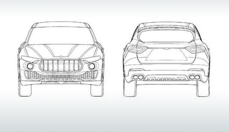 Maserati Levante SUV Revealed In Patent Application Images