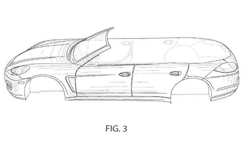Porsche Panamera Cabriolet Revealed In Patent Application