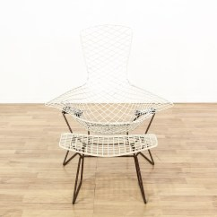 Bertoia Style Chair White Rv Swivel Chairs Harry Bird Wire And Stool