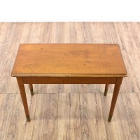 Mid Century Modern Maple Piano Storage Bench | Loveseat ...