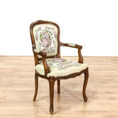 Victorian Accent Chair Fisher Price Laugh And Learn Needlepoint Upholstered Style Armchair