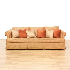 Burnt Orange Sofa And Loveseat Flexsteel Capitol Review Woven Upholstered Vintage