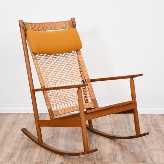 woven rocking chair ergonomic needs mid century modern loveseat vintage