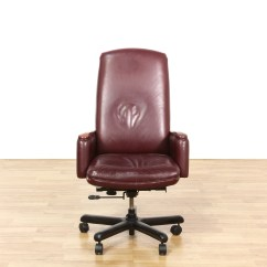 Maroon Office Chairs Best Massage For Sale Red Vinyl Executive Chair Loveseat Vintage