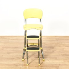 Old Fashioned Kitchen Chair Step Stool Kraftmaid Kitchens Gallery Quotcosco Quot Retro Yellow Loveseat Vintage