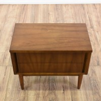 """Dixie"" Mid Century Modern Walnut Nightstand 