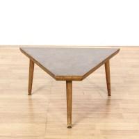 Mid Century Laminate Top Triangle Table | Loveseat Vintage ...
