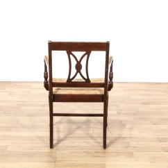 Wooden Slat Chairs Cheap Rolling Single Carved Back Chair Loveseat Vintage
