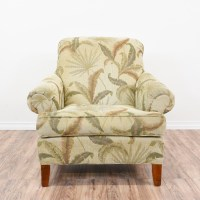 Tropical Print Curved Back Lounge Armchair | Loveseat ...