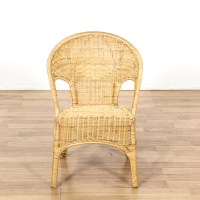 Wicker Woven Single Chair | Loveseat Vintage Furniture San ...