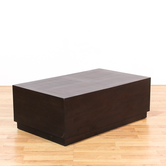 modern espresso rectangular block coffee table loveseat com los angeles