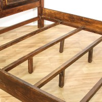 Rustic Stained Wood King Sized Bed Frame | Loveseat ...