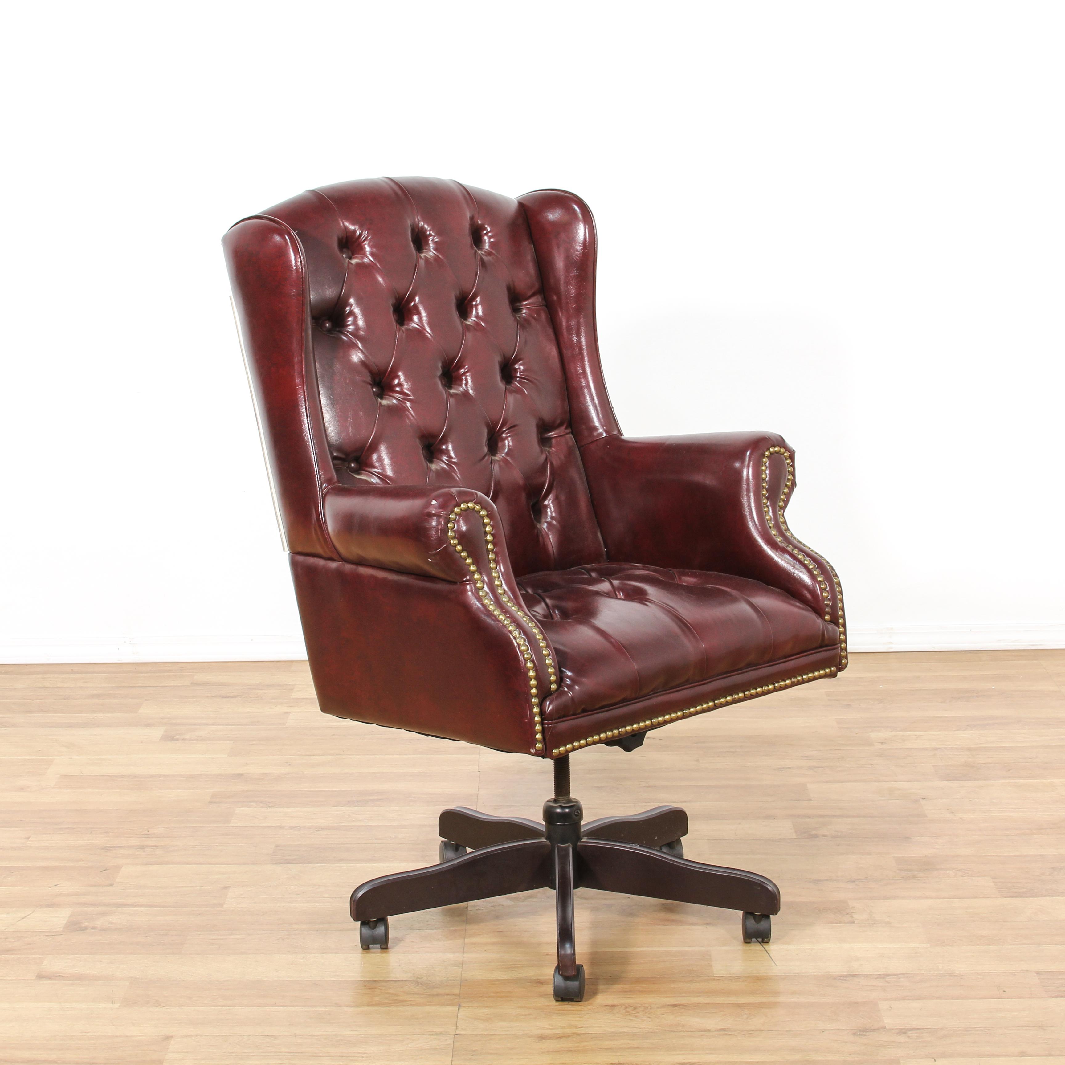 swivel chair office warehouse harter steel sturgis michigan purple leather tufted executive | loveseat vintage furniture san diego & los angeles
