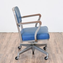 Stacking Rolling Chairs Multi Gym Fitness Chair Vintage Quotsteelcase Quot Industrial Blue Office