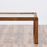 Mid Century Modern Glass Top Coffee Table | Loveseat ...