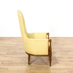 Yellow Upholstered Accent Chair Flip Chairs For Sleeping High Narrow Back Armchair Loveseat