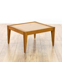Mid Century Modern Square End Table | Loveseat Vintage ...