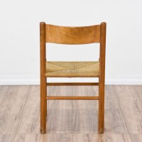 Simple Mid Century Modern Rush Seat Chair   Loveseat ...