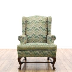 Ethan Allen Wingback Chairs Dxr Racing Gaming Chair Quotethan Quot Zigzag Armchair Loveseat Vintage