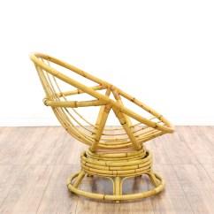 Rattan Egg Chair Ice Cream Sandwich Bean Bag Swivel Loveseat Vintage Furniture San