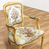 Needlepoint Upholstered Victorian Style Armchair ...