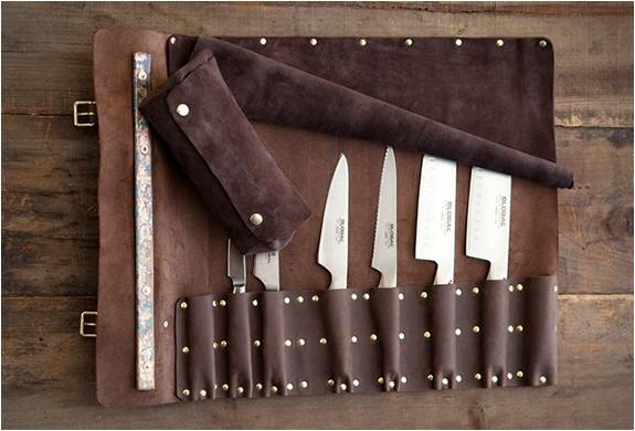 ESTOJO DE FACAS PERSONALIZADO  GOODSON LEATHER KNIFE ROLL