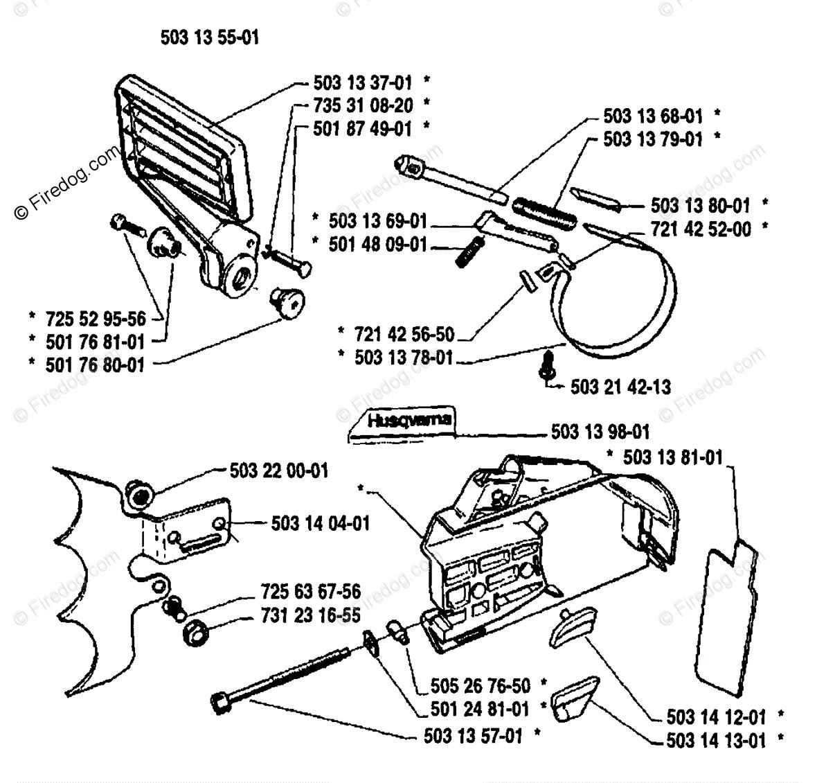 Husqvarna Chain Saw 3120 (1989-02) OEM Parts Diagram for
