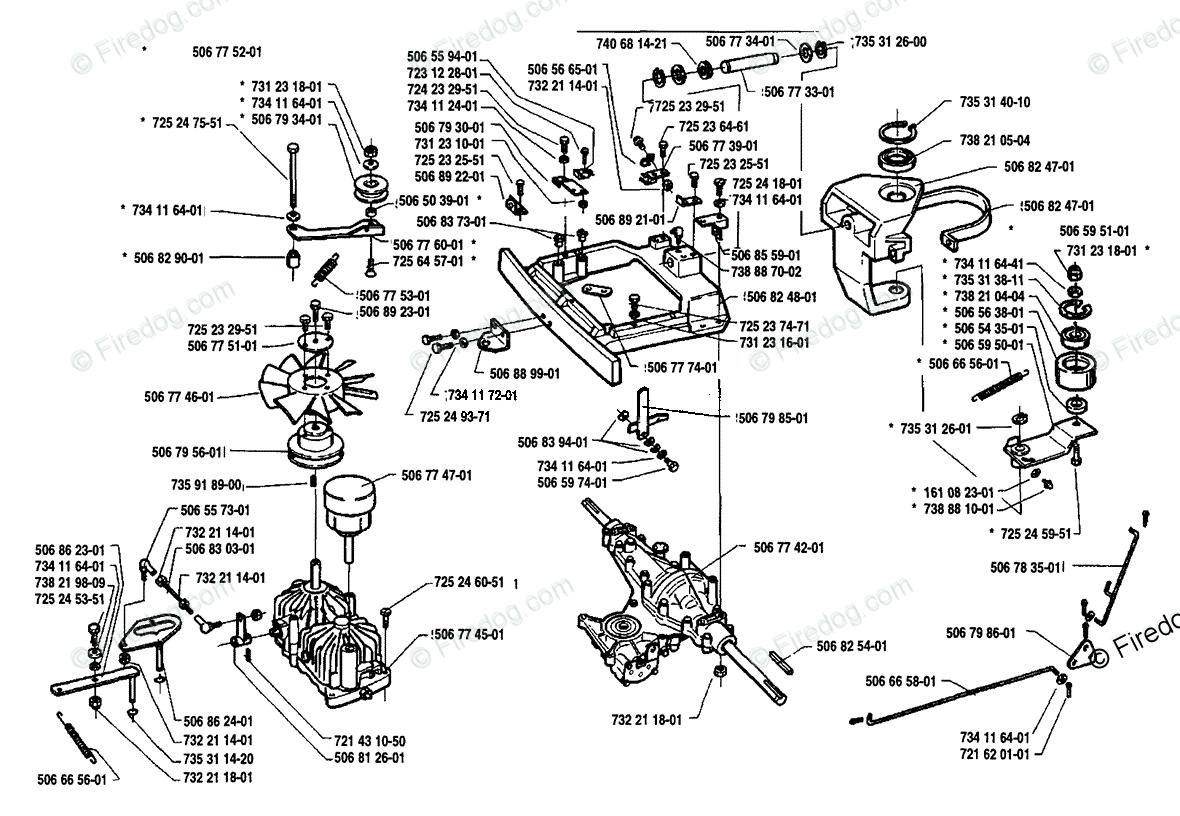Husqvarna Ride Mower Rider 1200-14 (1991-03) OEM Parts
