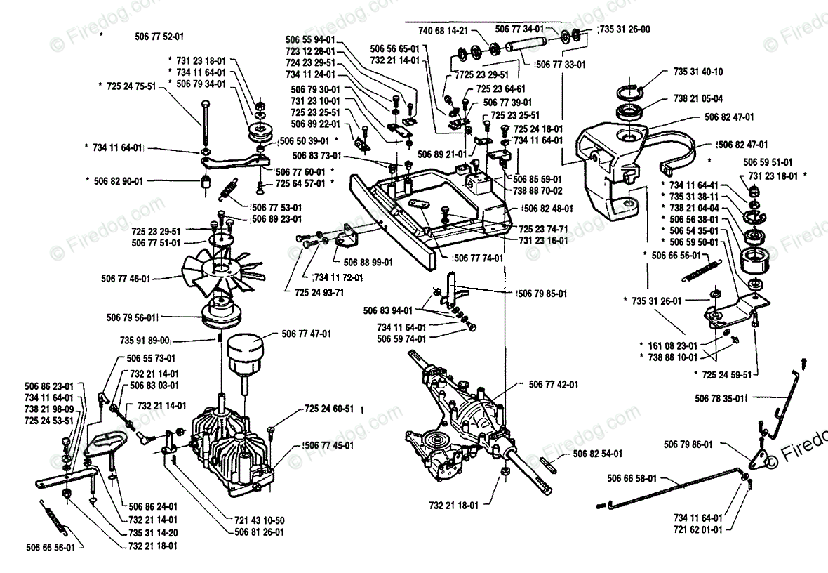 hight resolution of husqvarna ride mower rider 1200 14 1991 03 oem parts diagram for drive train assembly firedog com
