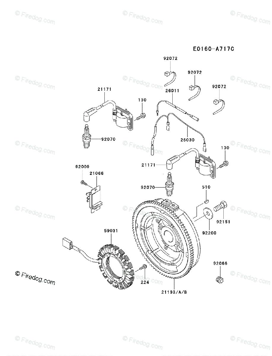 Kawasaki 4 Stroke Engine FH680D OEM Parts Diagram for