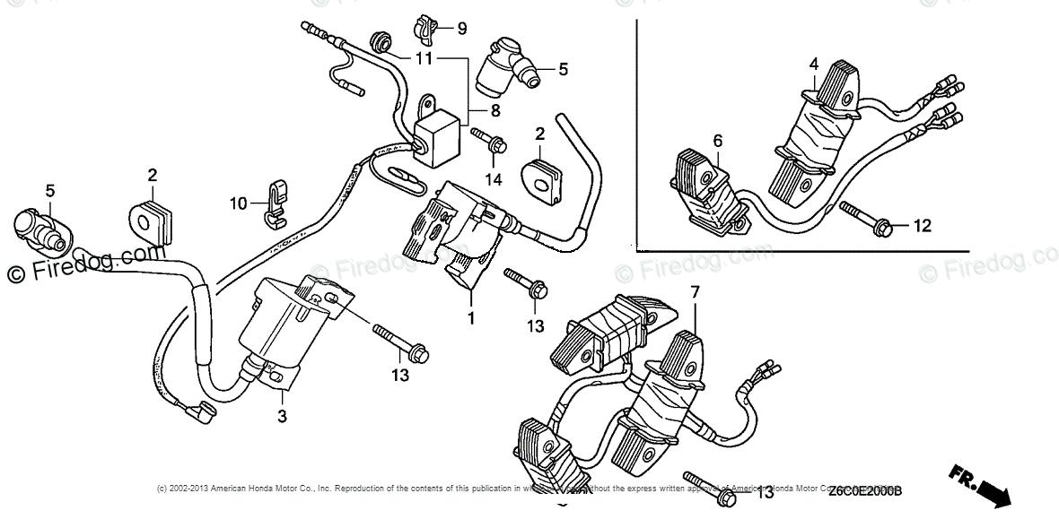 Honda Engines Engine GX OEM Parts Diagram for IGNITION