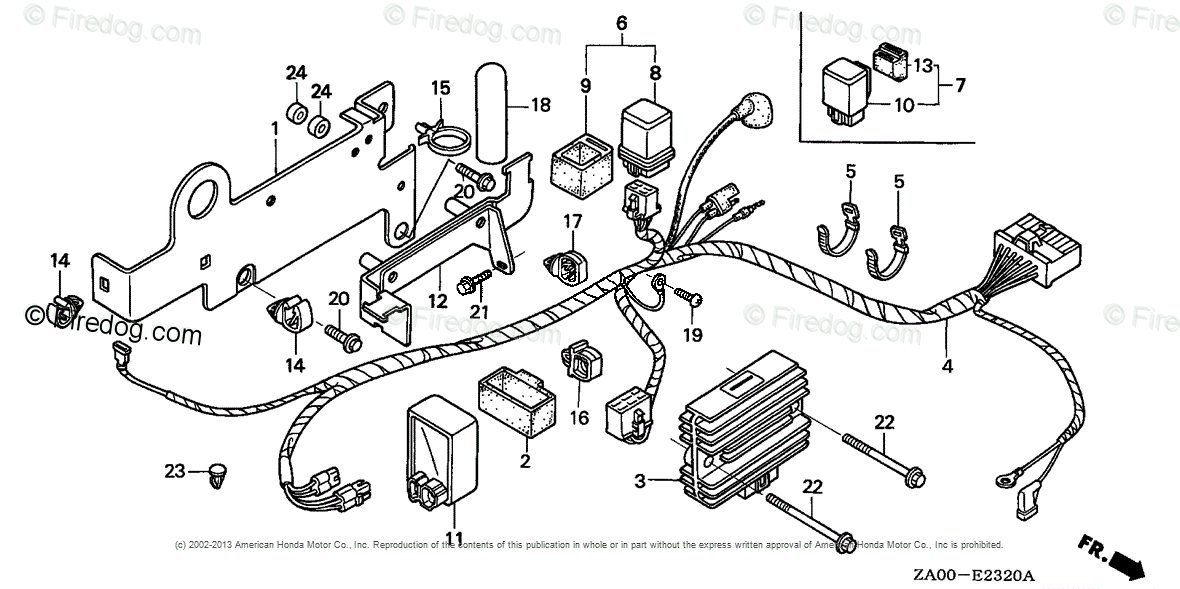 Honda Engines Engine GX OEM Parts Diagram for WIRE HARNESS