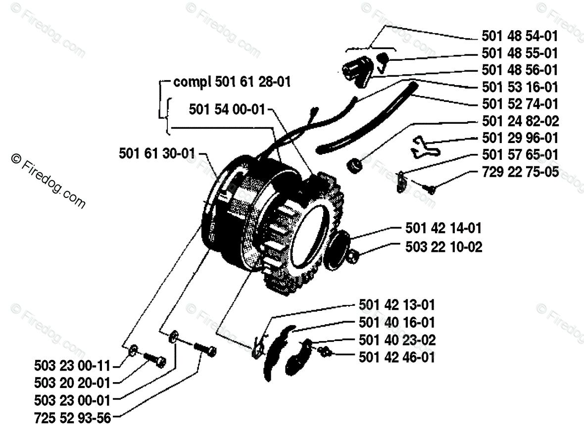 Husqvarna Chain Saw 285 (1981-12) OEM Parts Diagram for