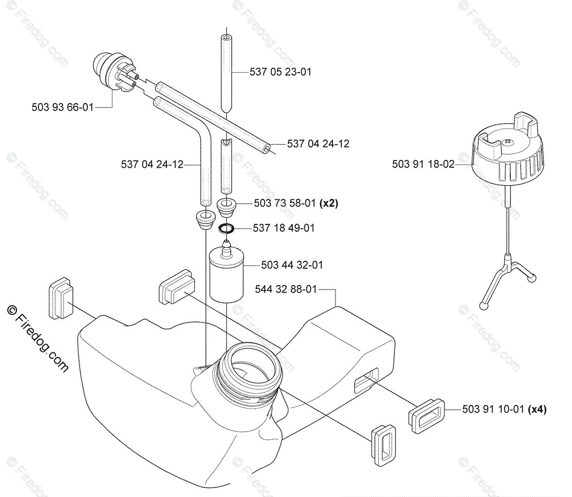 Husqvarna Brush Cutter 335 FR (2008-09) OEM Parts Diagram
