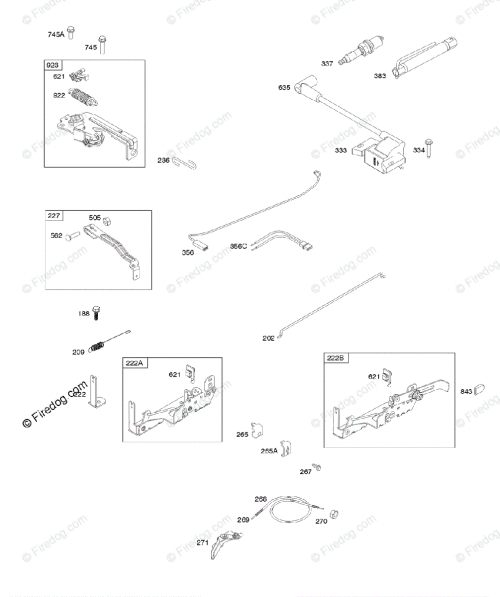 small resolution of briggs stratton 020000 09z999 series 09p600 to 09p699 oem parts diagram for armature controls electrical system governor spring ignition spark plug