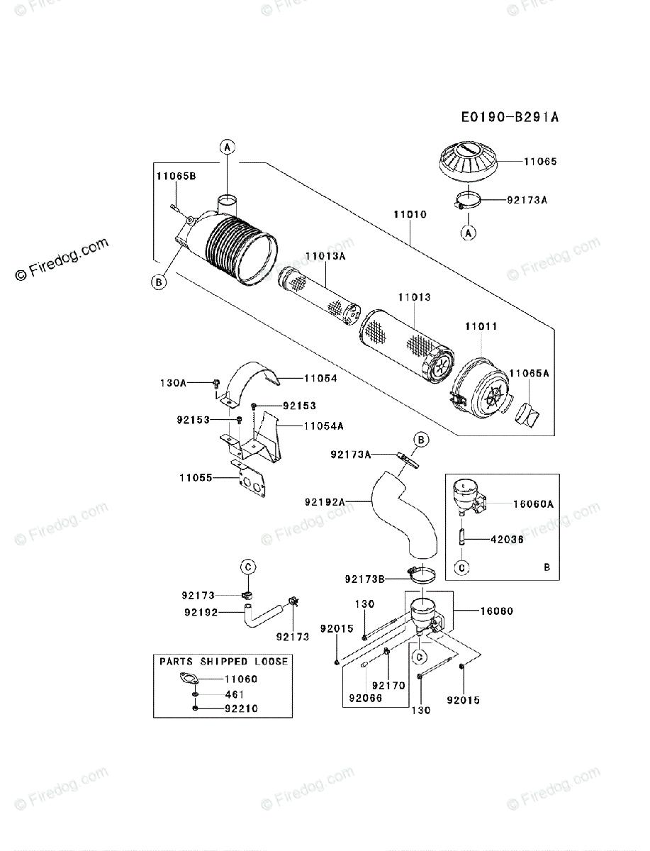 medium resolution of kawasaki 4 stroke engine fx801v oem parts diagram for air filter
