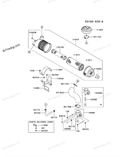 small resolution of kawasaki 4 stroke engine fx801v oem parts diagram for air filter