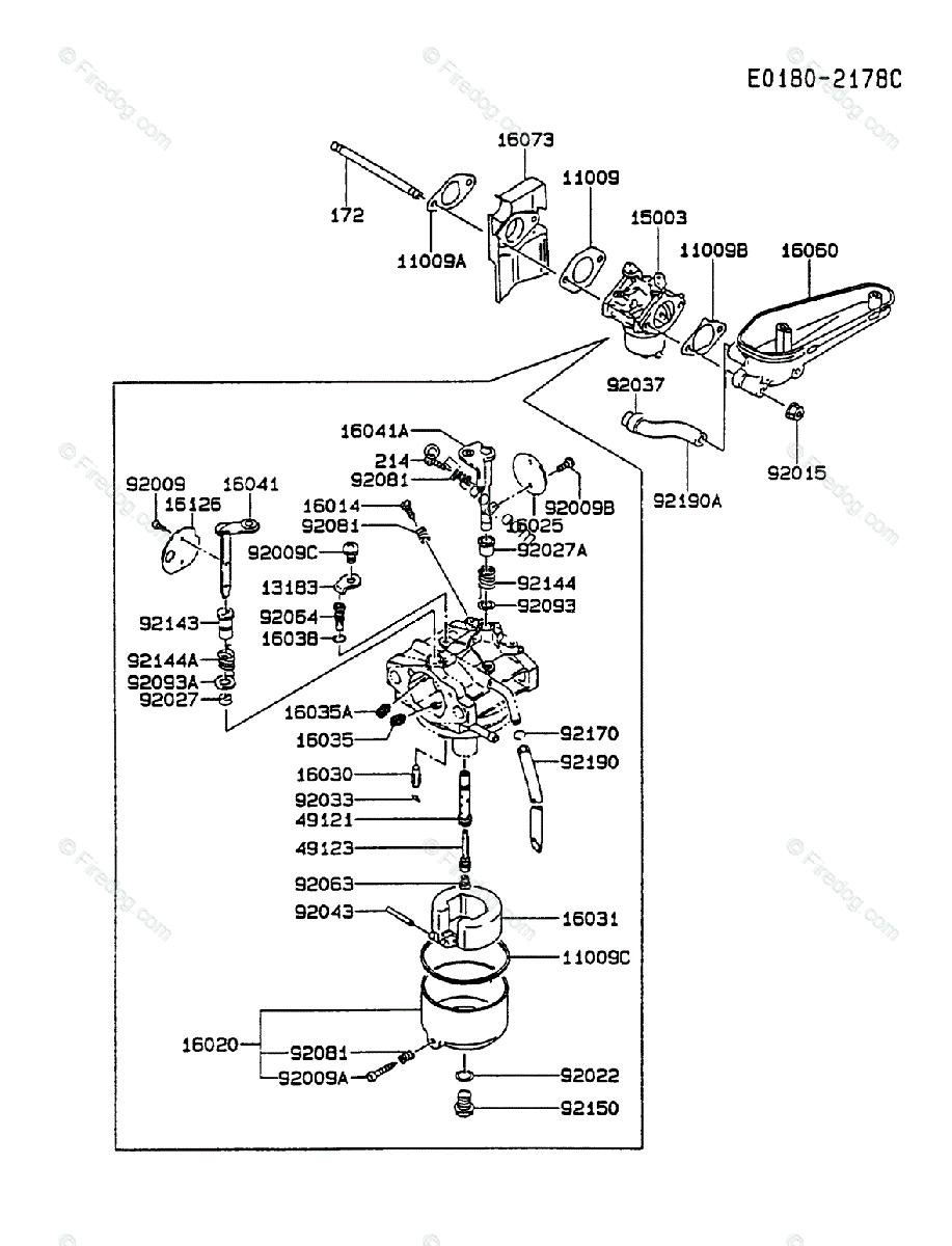 medium resolution of kawasaki 4 stroke engine fc420v oem parts diagram for carburetor kawasaki fc420v muffler kawasaki fc420v engine diagram