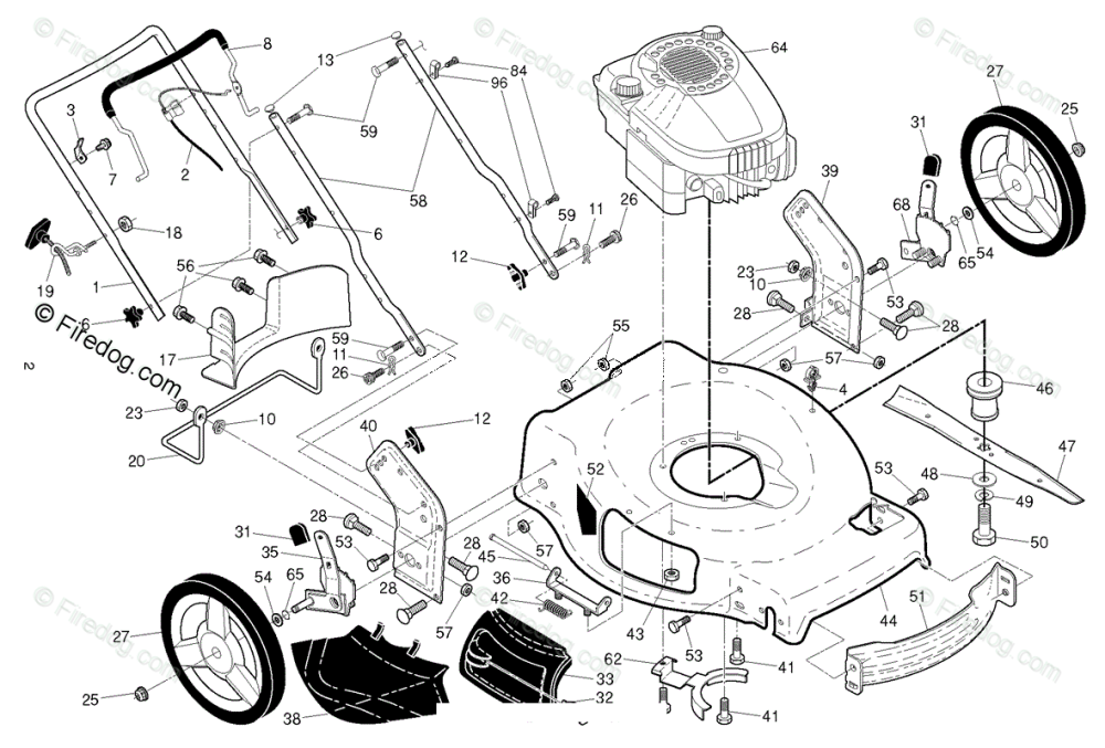 medium resolution of husqvarna lawn mowers consumer walk behinds lb 155s 96121002701 2014 09 oem parts diagram for engine firedog com