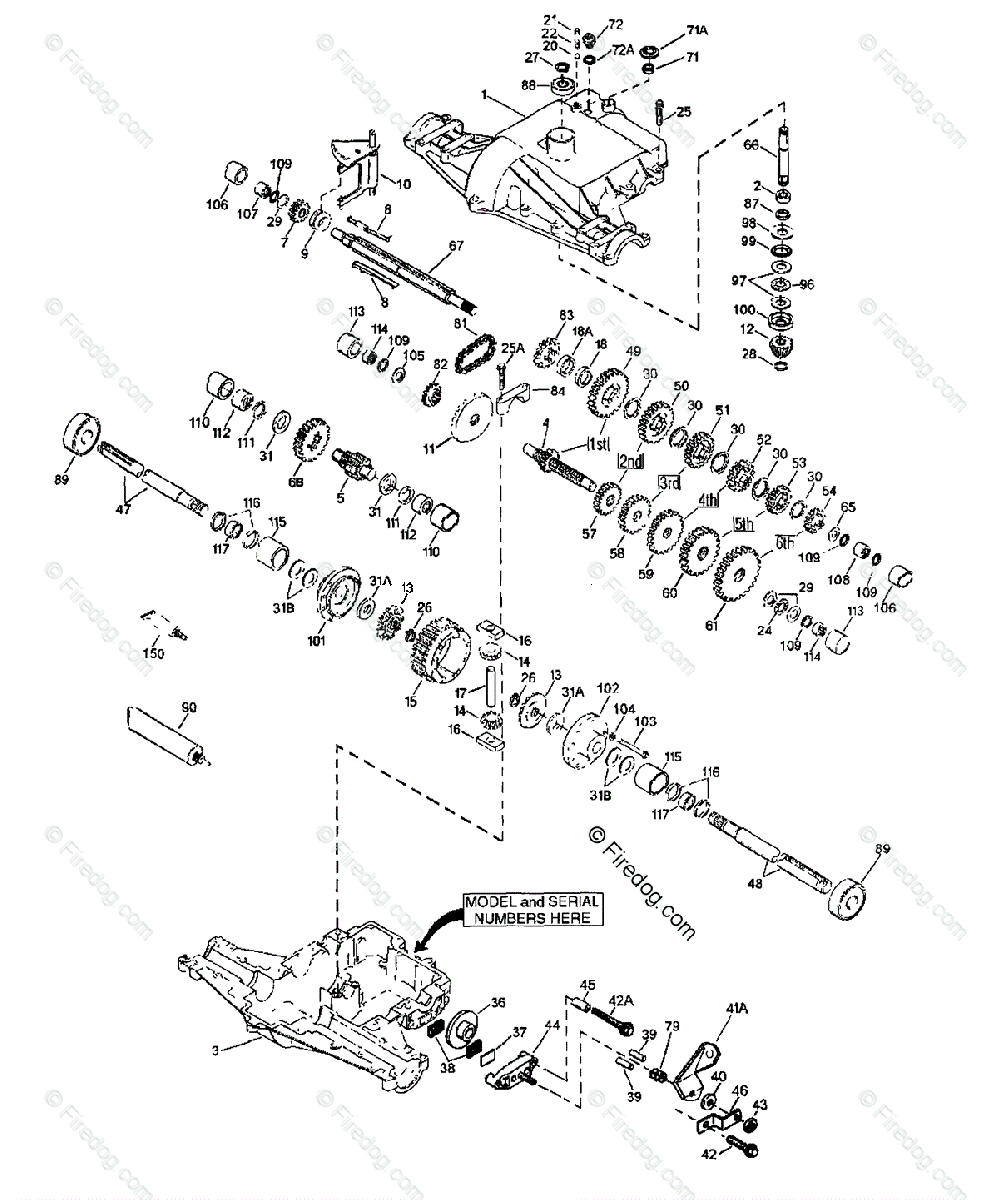 hight resolution of husqvarna engine transaxles tec 1997 04 oem parts diagram for peerless transaxle 820 016b 820 016c firedog com