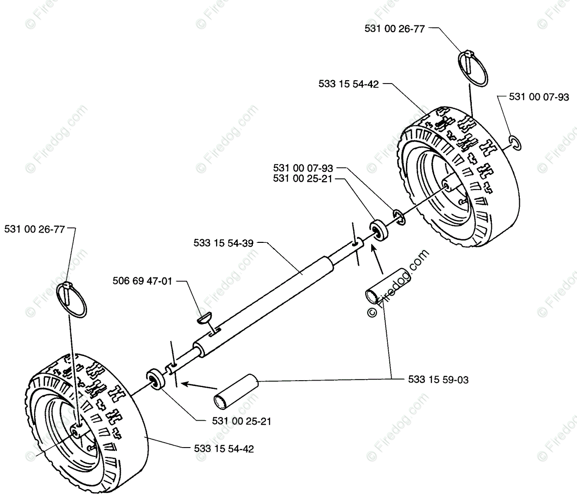 Wheel Assembly Parts Diagram
