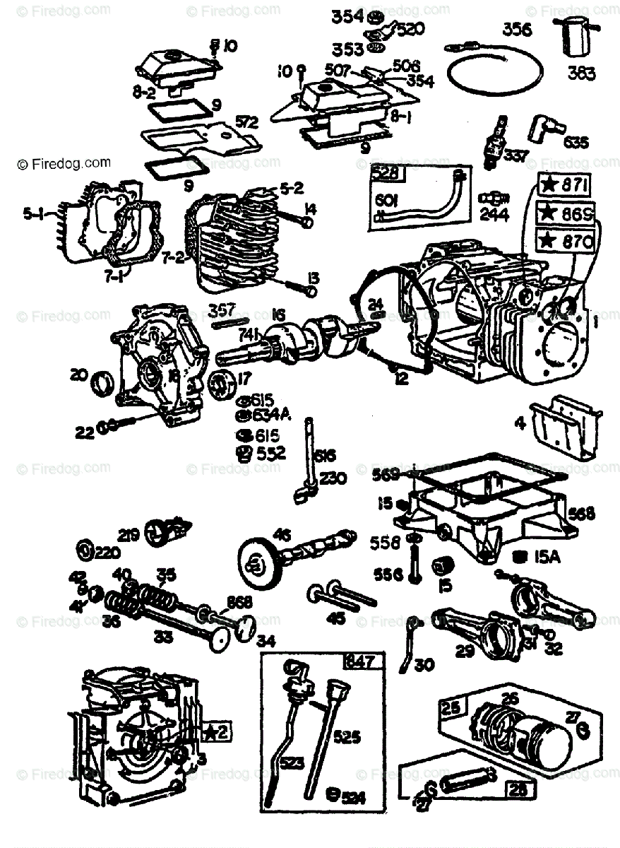 Brigg Stratton 4 Cycle Engine Diagram