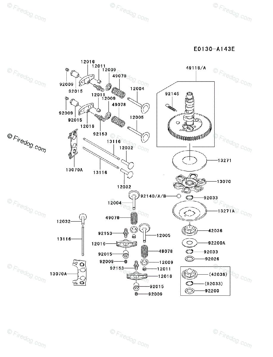 Kawasaki 4 Stroke Engine FH721V OEM Parts Diagram for