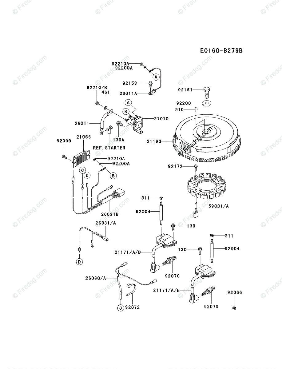 medium resolution of kawasaki 4 stroke engine fh680v oem parts diagram for electrickawasaki fh680v wiring diagram 6