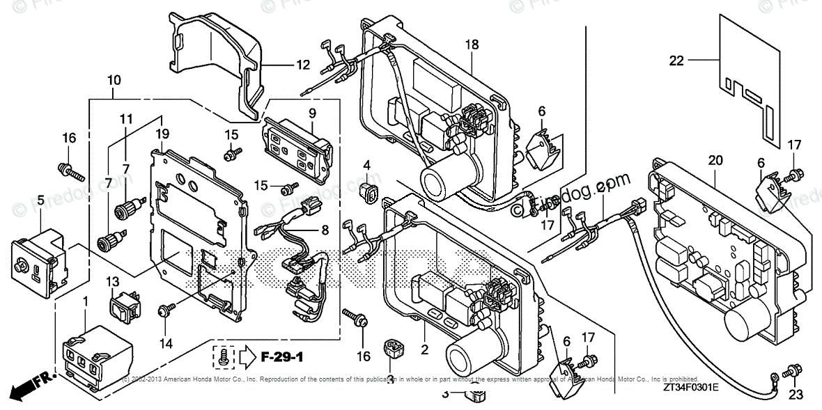 Honda Power Equipment Generator EU1000I A GENERATOR, JPN