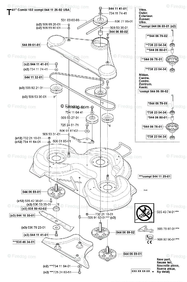Husqvarna Ride Mower Rider 155 (USA) (2006-01) OEM Parts