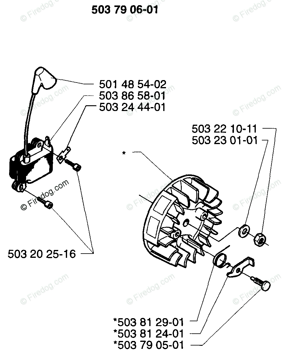 Husqvarna Brush Cutter 225 R (1997-02) OEM Parts Diagram